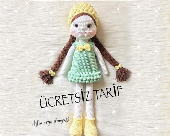 Amigurumi Bebekte Saç Yapımı : Pıtırcık kız amigurumi yapılışı elişi deryası elişi deryası