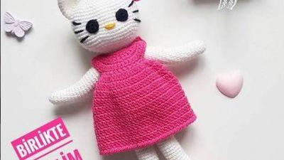 Amigurumi Hello Kitty Tarifi - Amigurumi Oyuncak Tarifleri | Hello ... | 225x400