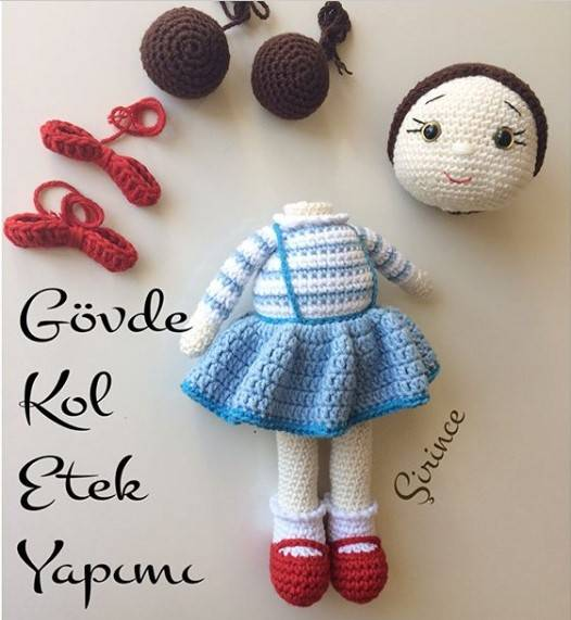 Amigurumi Knitting Amigurumi Zeynep doll making new described butt ... | 571x526