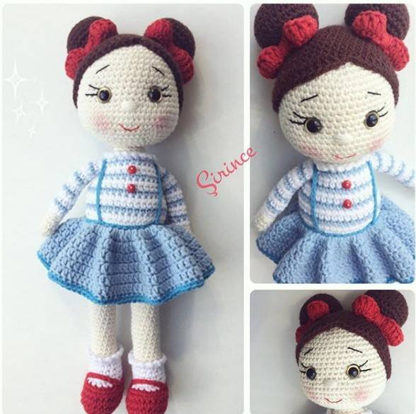 Amigurumi Doll Zeynep Free Crochet Pattern - Amigurumi Free Patterns | 585x588